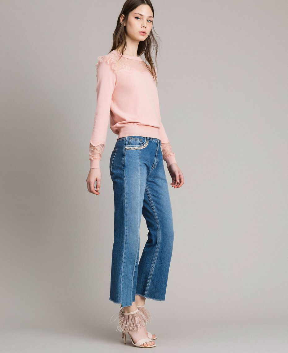Top with lace details Pink Pearl Woman 191TP3031-02