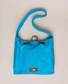 """Canvas shopper with shoulder strap """"Bay"""" Blue Woman 201LM7ZKK-01"""