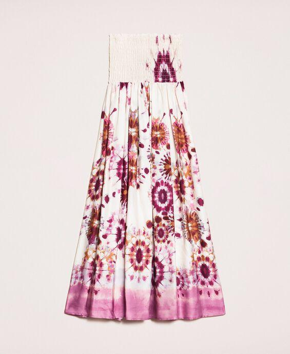 Rockkleid aus bedrucktem Satin