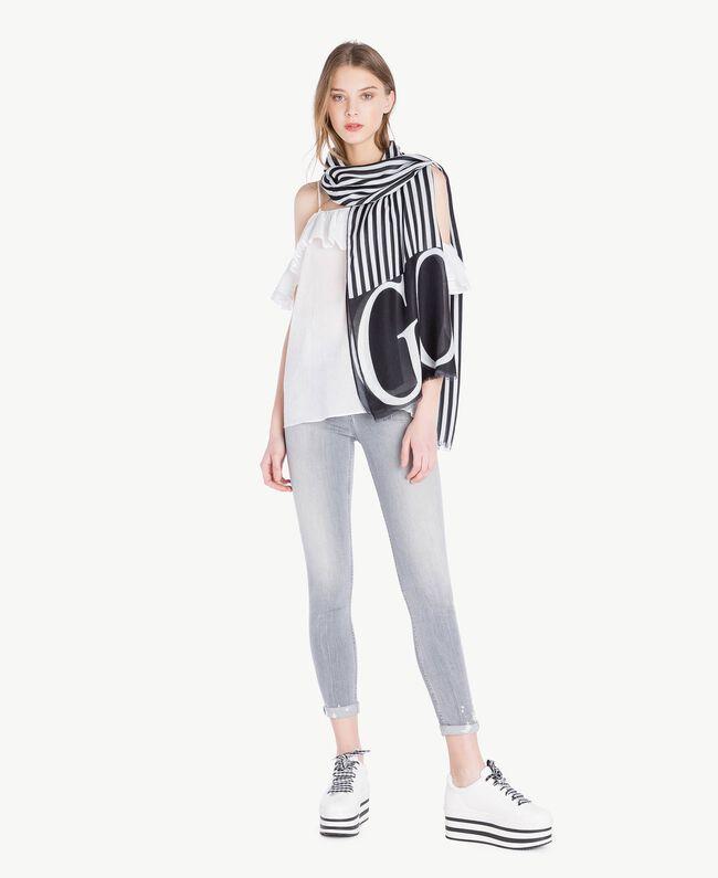 Skinny jeans Grey Denim Woman JS82Y1-05