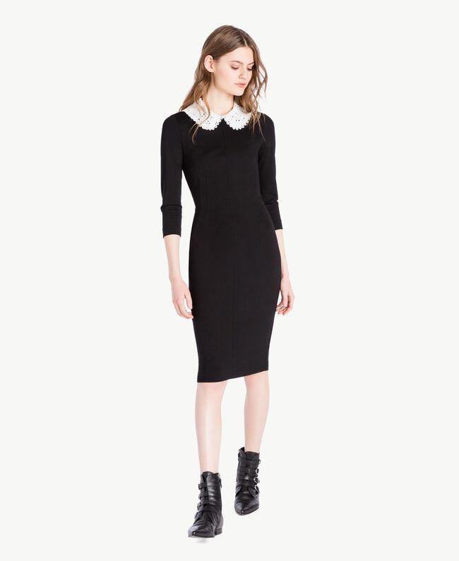 Collar dress Black Woman PS828B-01
