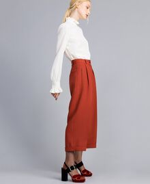 Pantaloni cropped in lana bistretch Bruciato Donna TA8271-03
