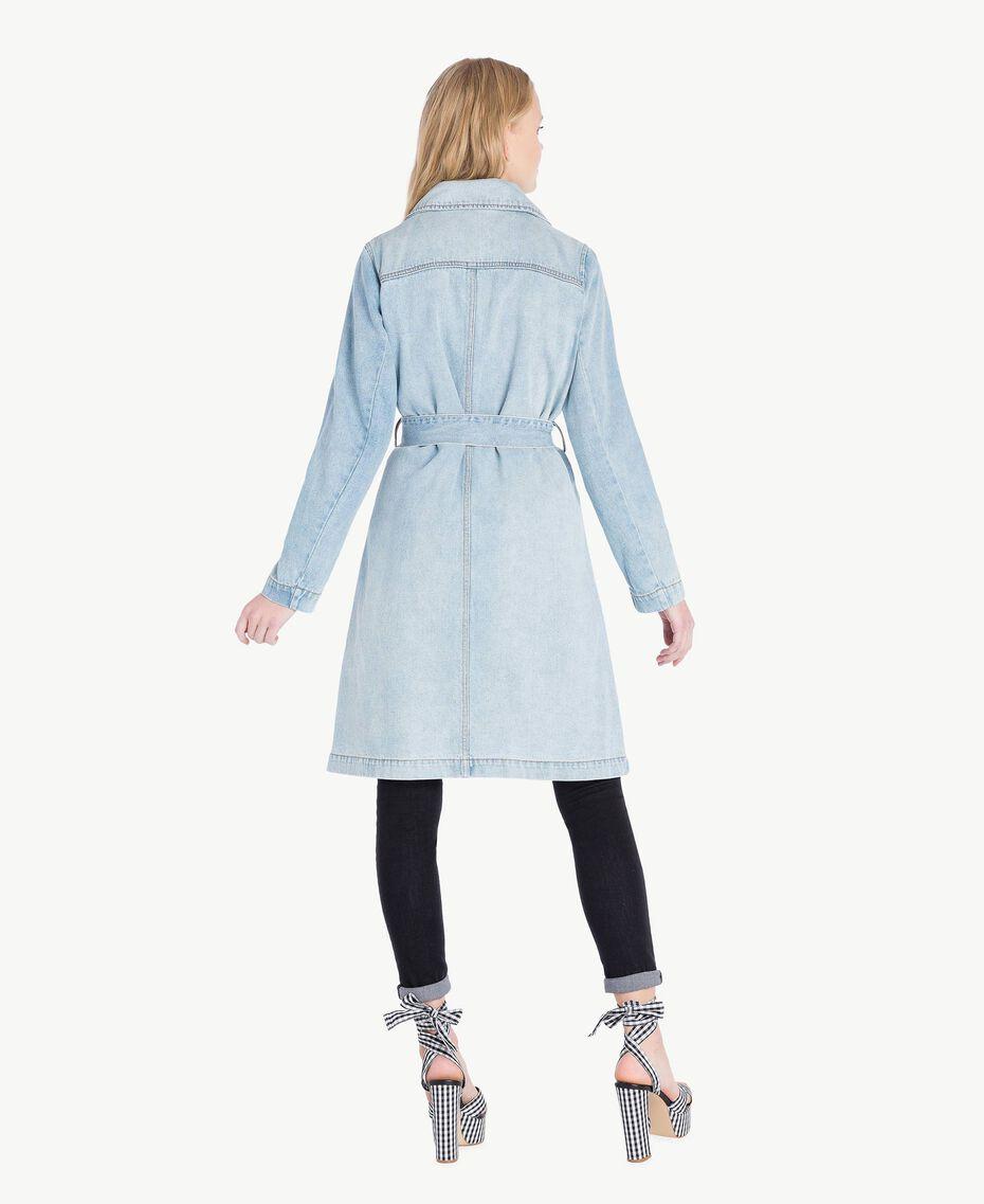 Denim trench coat Denim Blue Woman JS82TZ-03