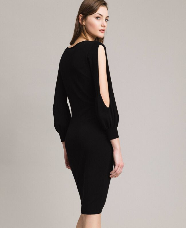 Robe fourreau avec fentes Noir Femme 191TP3291-04