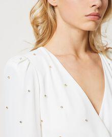 Платье с шатонами Слоновая кость женщина 211LM21EE-06