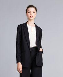Jacke aus Cool Wool Schwarz Frau PA823R-01