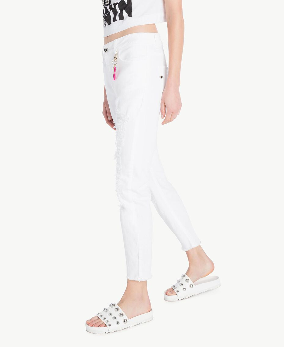 Girlfriend trousers White Woman YS82ZP-02