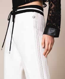 Plush and knit joggers Lily Woman 201MP3211-05