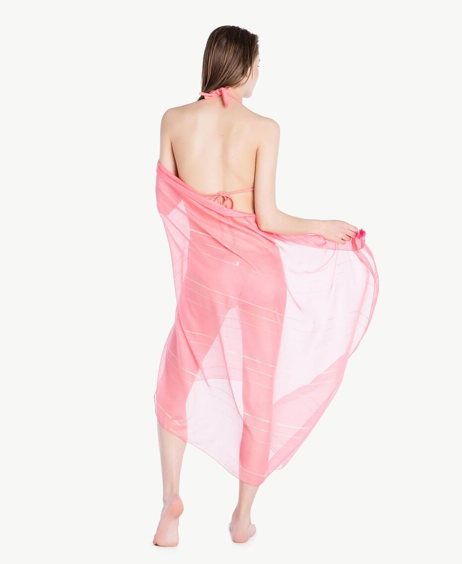 Pareo aus Lurex Fuchsia Vegas Pink Frau BS8ZFF-06