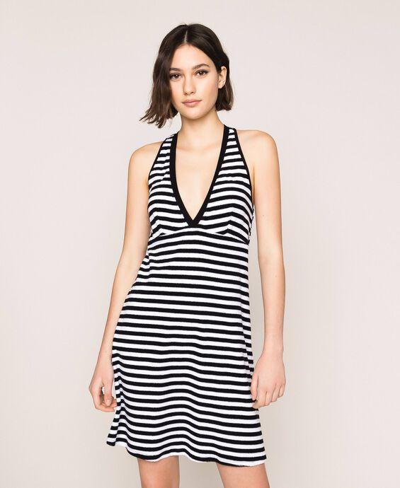 Striped terry cloth dress
