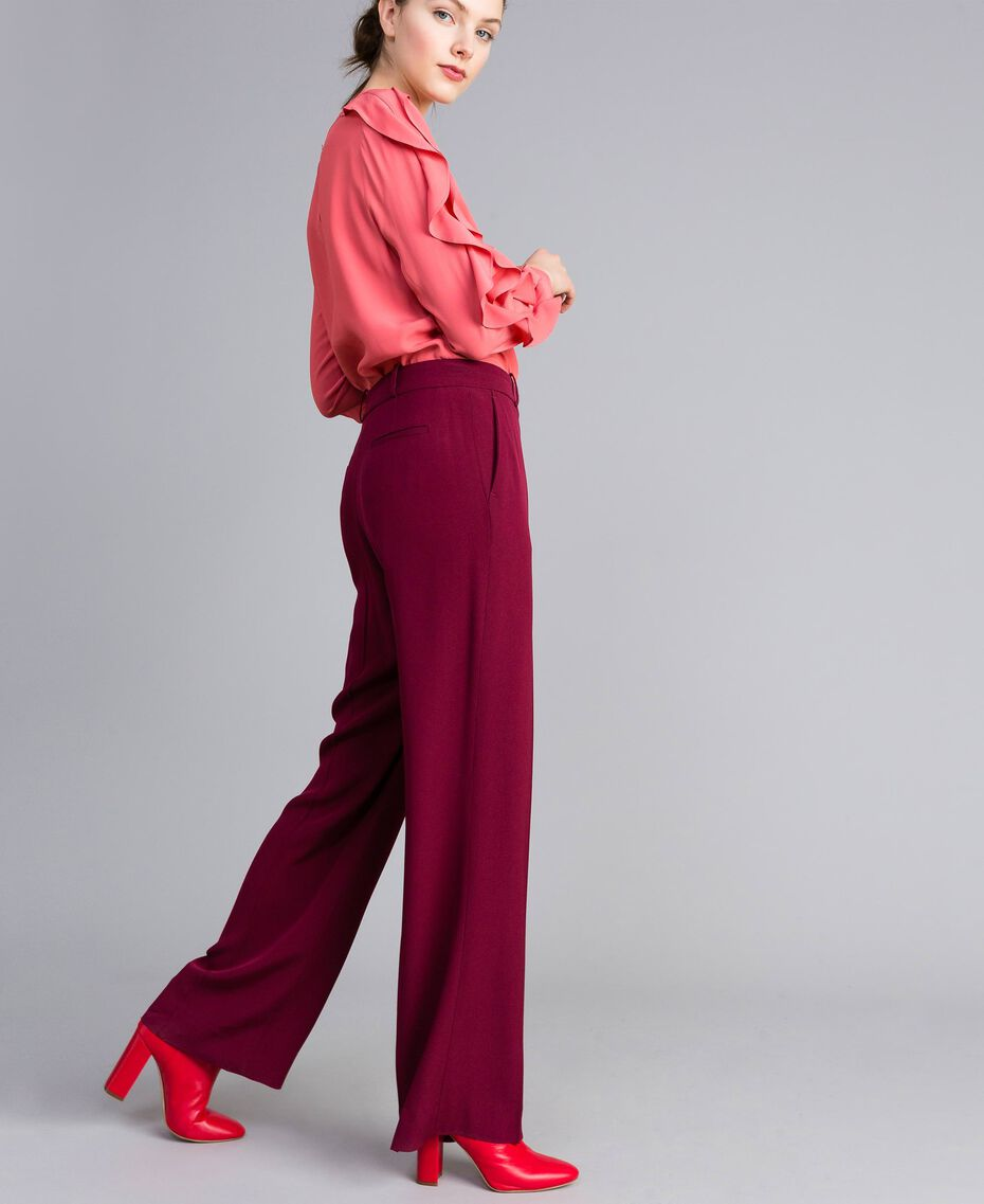 Pantalon en cady Bordeaux Femme PA822N-02