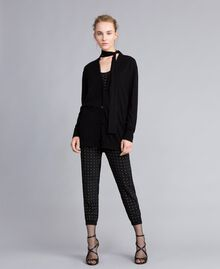 Silk and cashmere cardigan Black Woman PA83GG-0T
