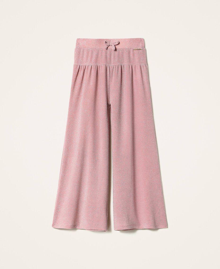 Weite Hose aus Lurex Lurex Matt Pink Kind 202GJ2110-0S