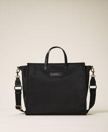 Sac cabas Twinset Bag en satin avec bandoulière Noir Femme 202TB7200-01