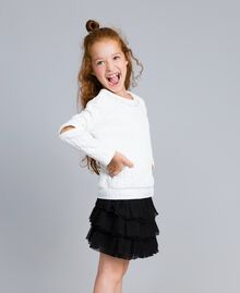 Sweat matelassé avec strass Off White Enfant GA82NN-02