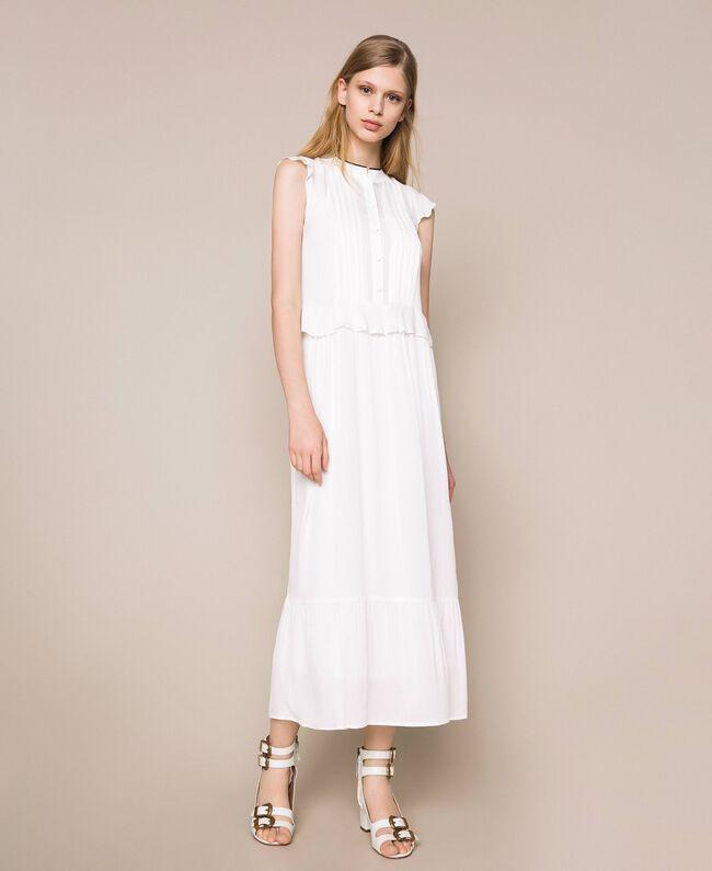 Crêpe de Chine long dress Ivory Woman 201TP2390-01