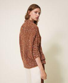 Pull en tweed Rouge Terre cuite Femme 202LI3PGG-03