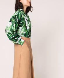 Pantalon cropped en popeline Marron Clair Femme 201ST202C-03