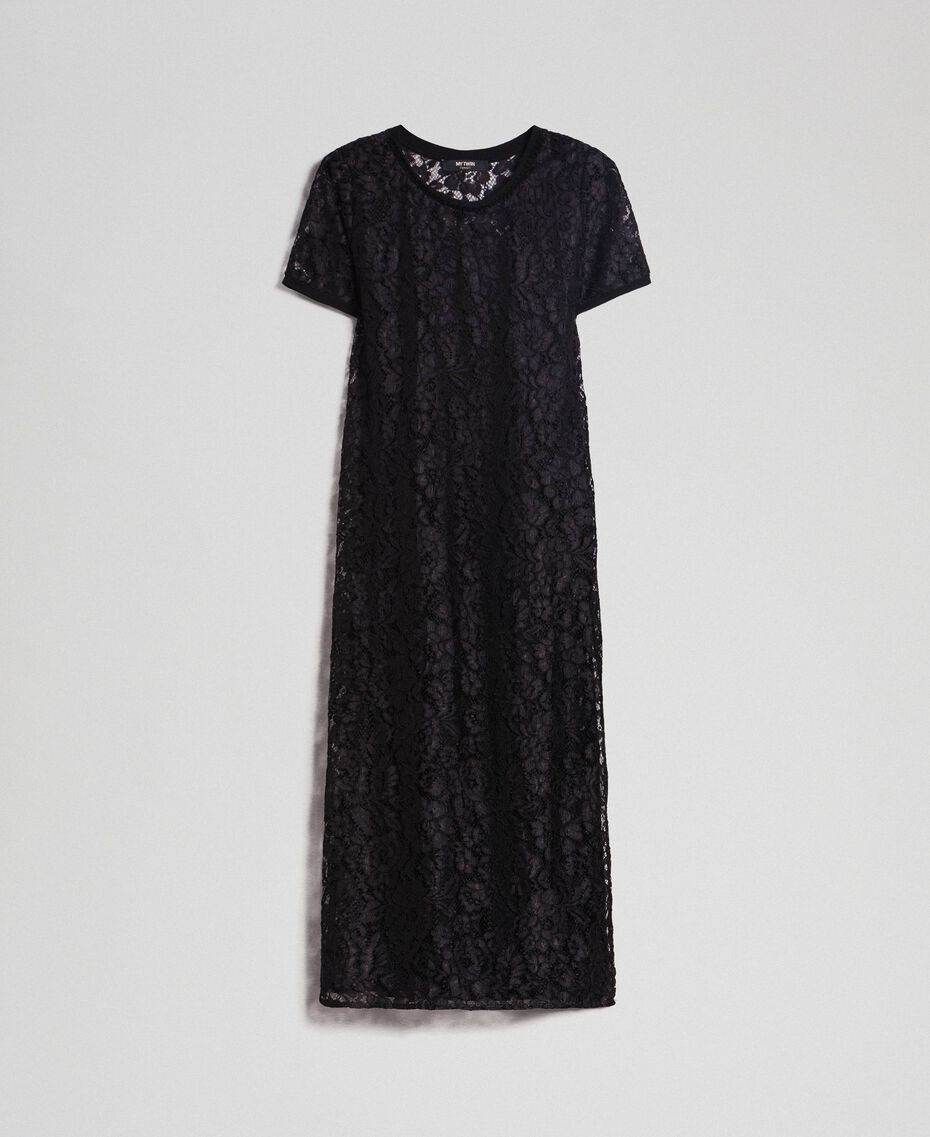 Lace dress with slip Black Woman 192MP2490-0S