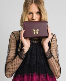 Petit sac à bandoulière avec fermoir papillon Rouge Betterave Femme 192TA7022-0S