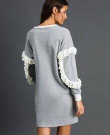 Chemise de nuit avec franges Gris Mélangé Femme 192LL2EEE-04