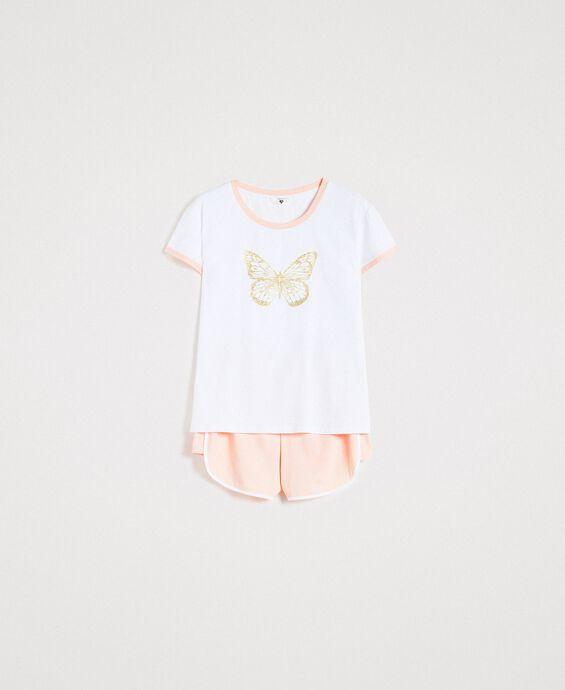 Pyjama court avec papillon pailleté