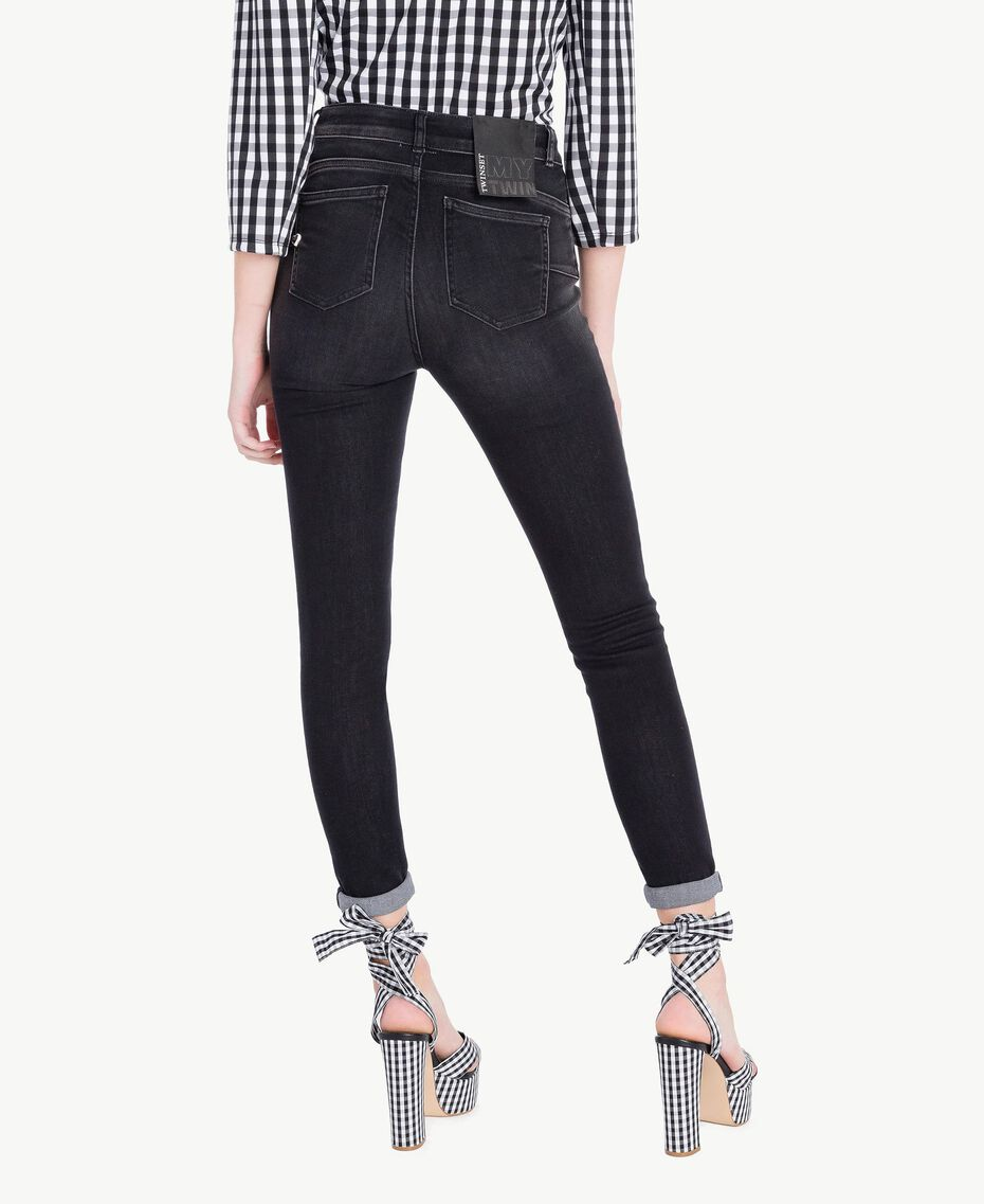 Skinny jeans Black Denim Woman JS82X1-03