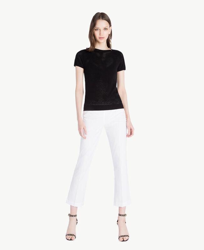 Pullover aus Viskose Schwarz Frau TS832S-05