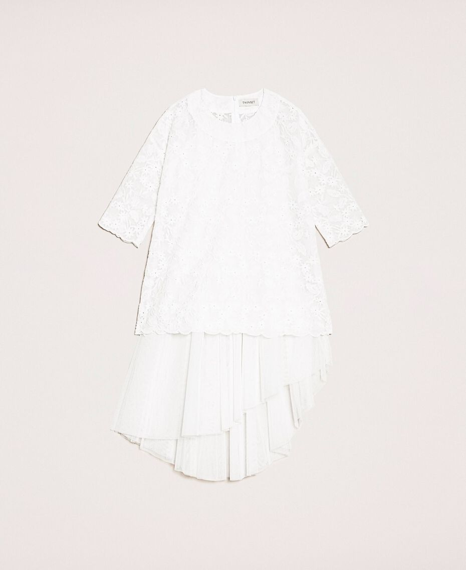Tulle skirt and tunic dress Off White Child 201GJ2QC0-0S