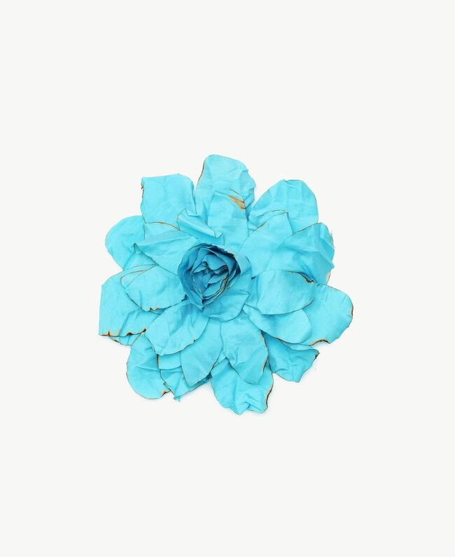 Flower brooch Turquoise Woman AS8P71-01
