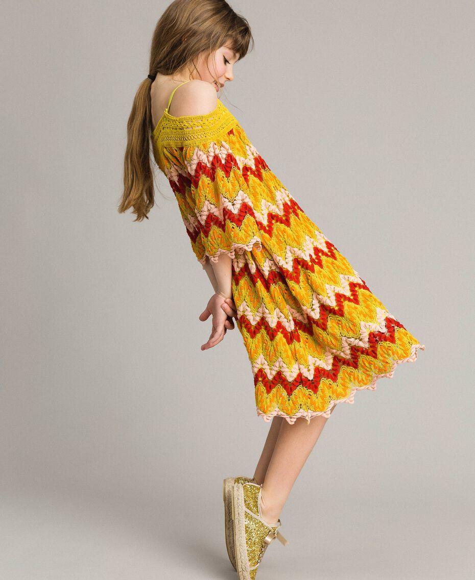 Mehrfarbiges Jacquard-Kleid Mehrfarbiger Jacquard Kind 191GJ2270-02