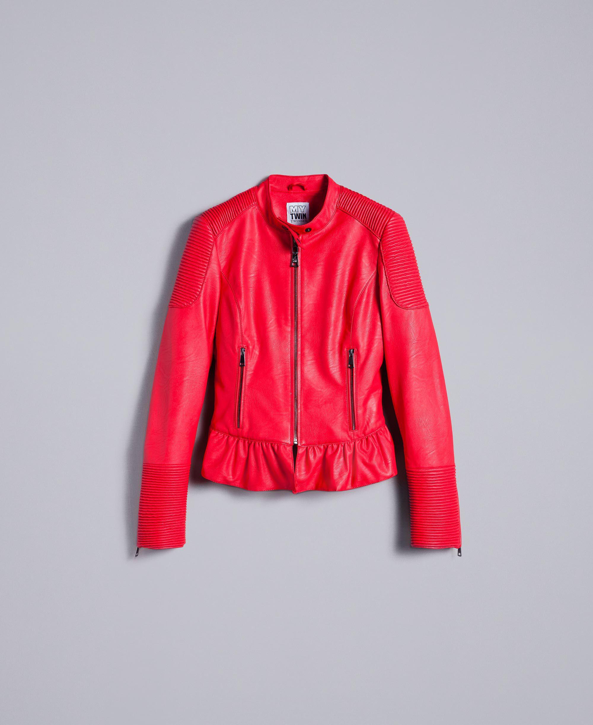 Lavage veste en simili cuir