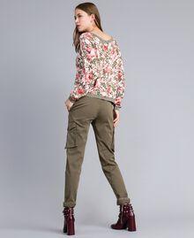 """Кардиган из вискозы с принтом Набивной Розовый Цветочный """"Облачные Розы"""" женщина JA83HN-02"""
