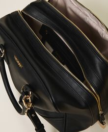 Bowler bag with dual compartment Black Woman 202TB7030-05
