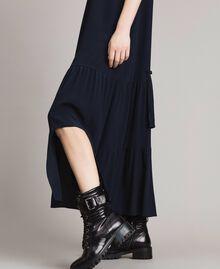 Silk-mix long dress Deep Blue Woman 191TP2461-05
