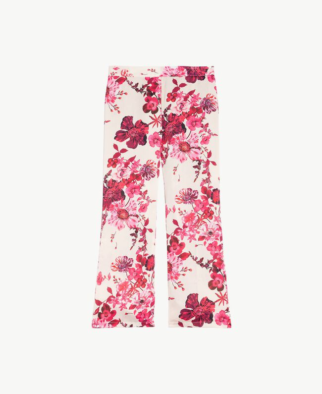 """Pantalone macro fiori Stampa Fiori Fuxia """"Love Bites"""" IA7KAA-01"""