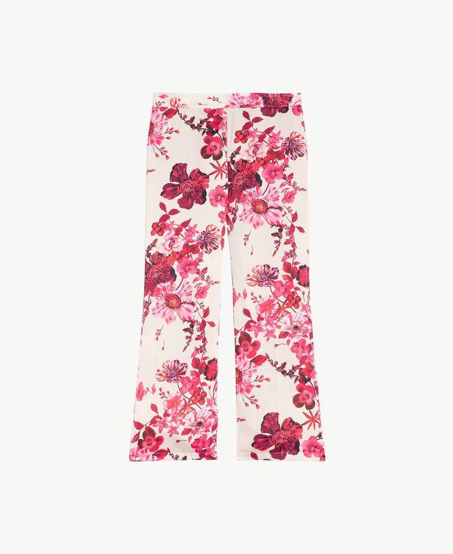 "Pantalon grandes fleurs Imprimé Fleurs Fuchsia ""Loves Bites"" IA7KAA-01"