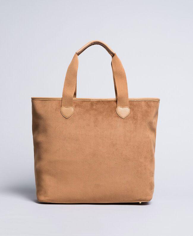 Sac shopping en velours avec broderie Chameau Femme AA8PLA-04