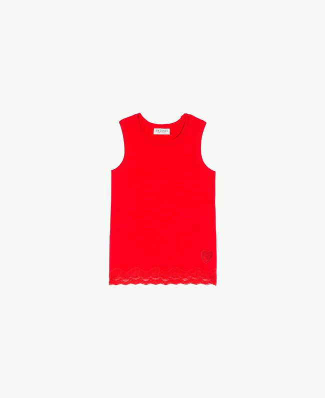 Jersey tank top Pomegranate Red Child GS82BD-01