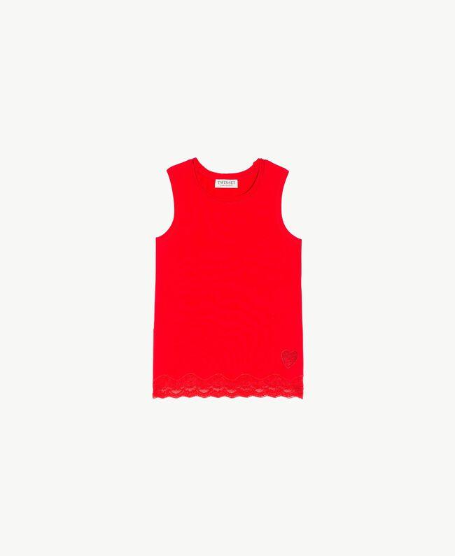 Débardeur jersey Rouge Grenade Enfant GS82BD-01