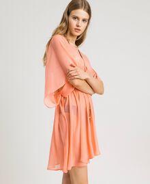 """Caftan en mousseline de soie Rose """"Crème De Tangerine"""" Femme 191LB2KDD-02"""