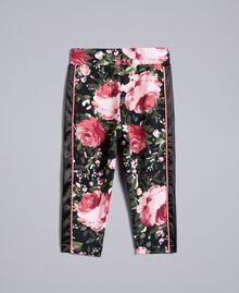 Pantalon en piqué imprimé Imprimé Roses / Noir Enfant FA82RU-0S