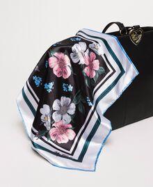 Sac cabas en similicuir avec foulard Noir Femme 201MA7080-05
