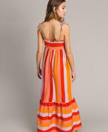 Robe longue en popeline à rayures multicolores Imprimé Multicolore Grenadine Femme 191TT2411-05