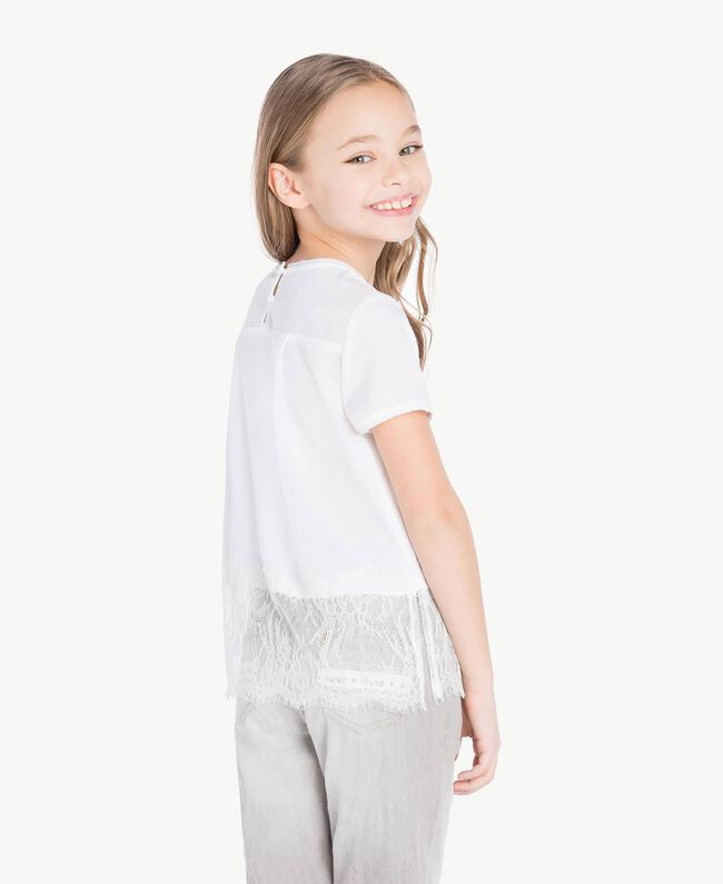 "Lace blouse ""Papers"" White Child GS82ED-04"