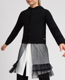Cardigan with tulle inlay Black Child 192GJ3111-04