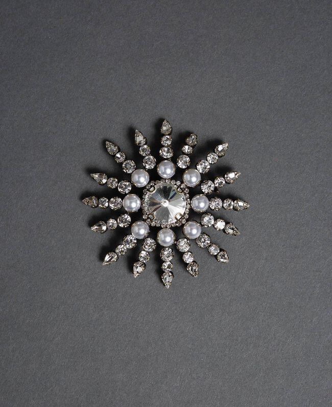Spilla con pietre e perle Argento Crystal Donna 192TO530F-01