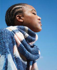 Multicolour stripe scarf Blue Striped Multicolour Woman 202MA4335-0T