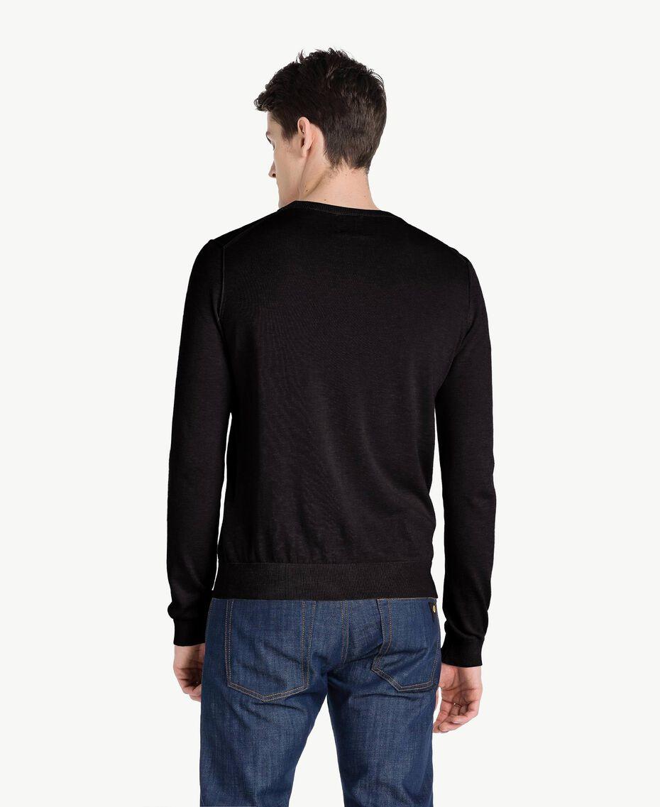Pullover aus Baumwolle und Kaschmir Schwarz Mann US831B-03