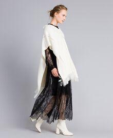 Long Valencienne lace dress Black Woman PA824Q-0T